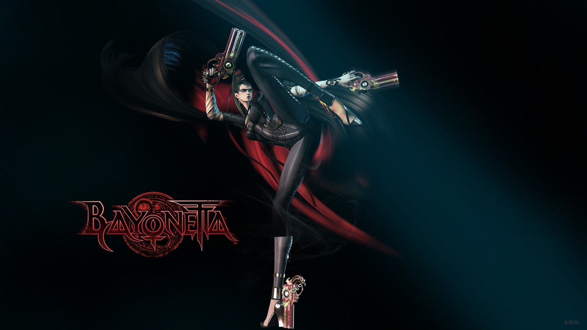 bayonetta Kicking Wallpaper