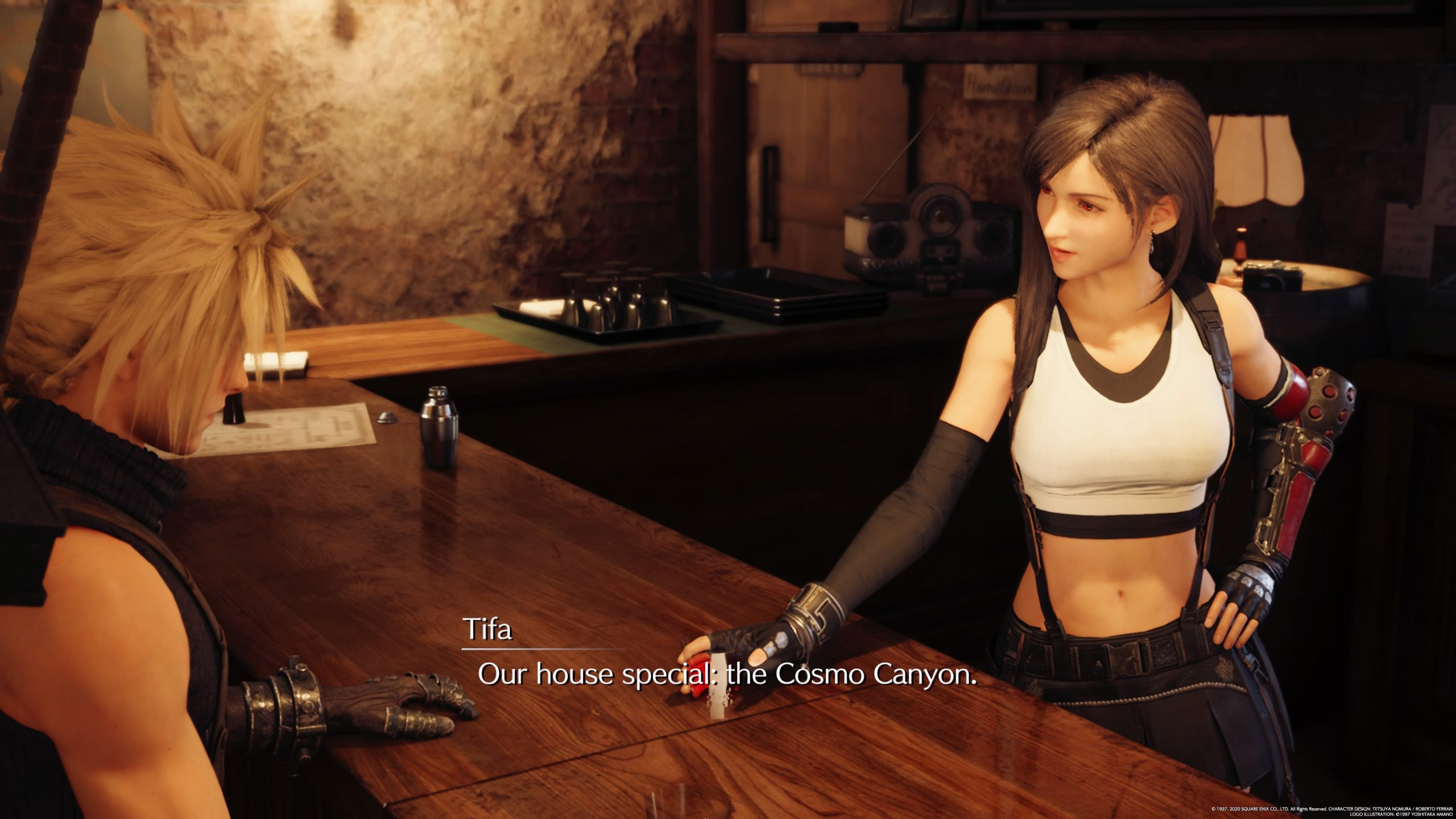 Final Fantasy VII Remake Cloud en Tifa