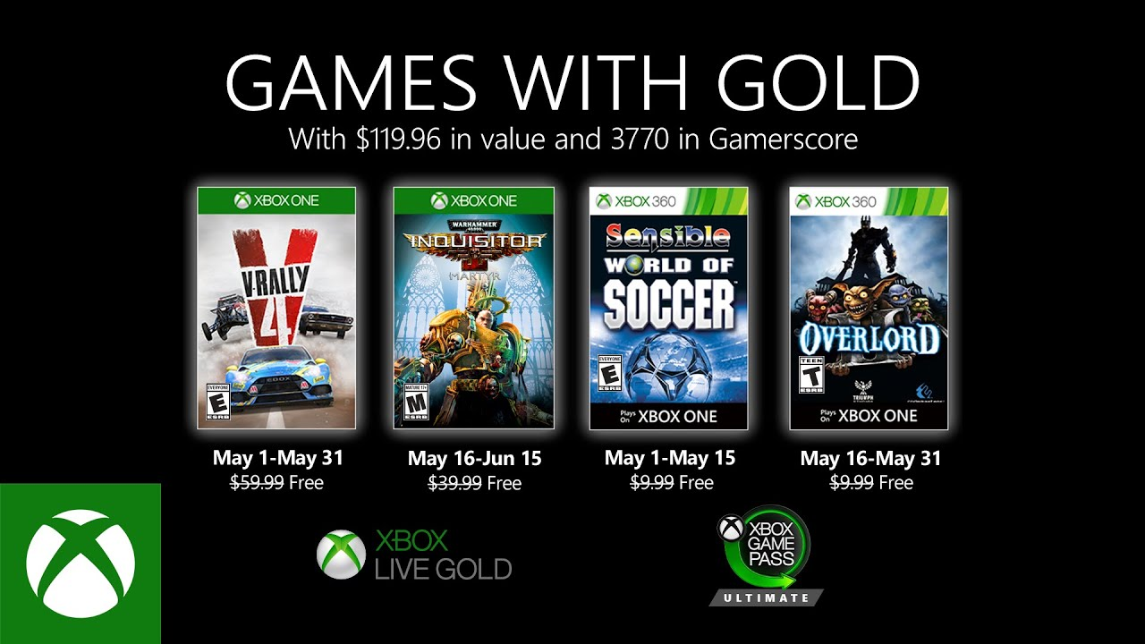 Games with Gold mei Line-up bekendgemaakt