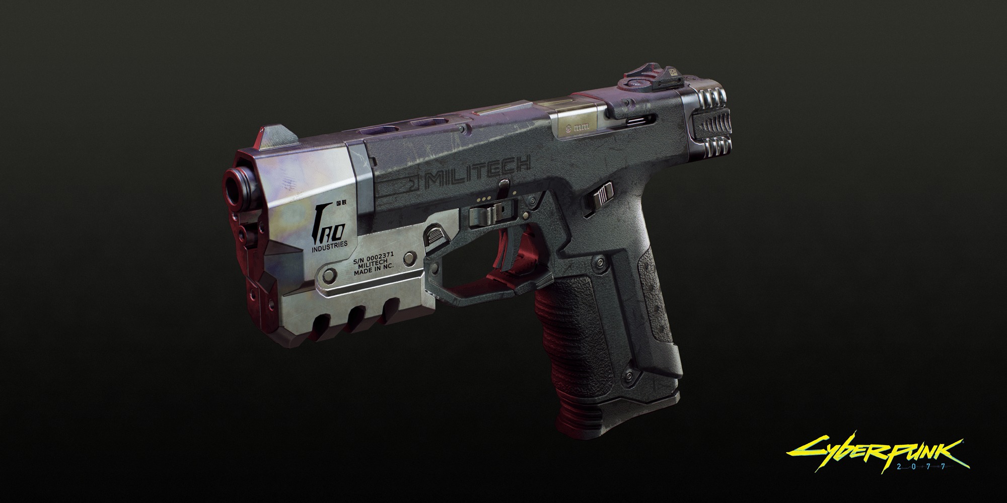 wapens cyberpunk pistool