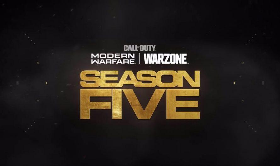 Call of Duty Modern Warfare Season 5 trailer en patch notes