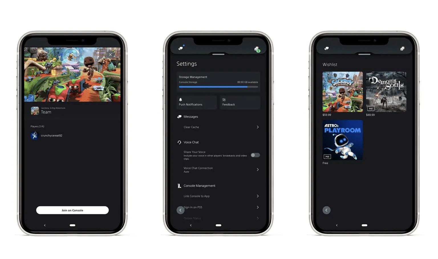 Playstation App updates
