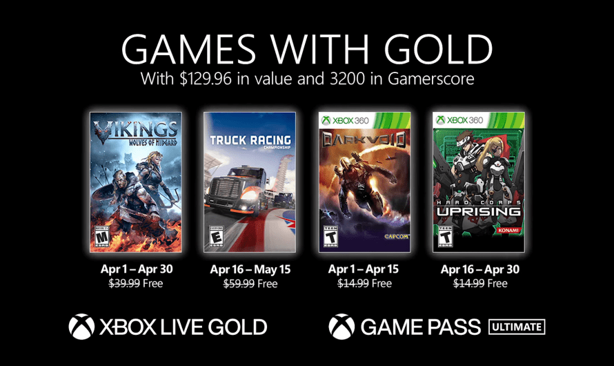 Games with Gold voor april 2021